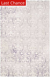 Rugstudio Sample Sale 143551R Lavender - Ivory Area Rug