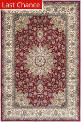 Rugstudio Sample Sale 126952R Red - Ivory Area Rug