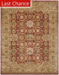 Rugstudio Sample Sale 80738R Red / Ivory Area Rug