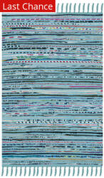 Rugstudio Sample Sale 143603R Turquoise - Multi Area Rug