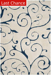 Rugstudio Sample Sale 182555R Cream - Blue Area Rug