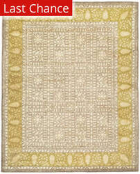 Rugstudio Sample Sale 61159R Beige / Light Gold Area Rug