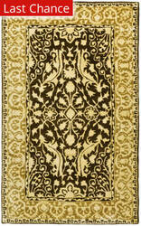 Rugstudio Sample Sale 61157R Brown / Ivory Area Rug
