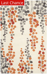 Rugstudio Sample Sale 143629R Beige - Orange Area Rug