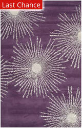 Rugstudio Sample Sale 94612R Purple / Ivory Area Rug