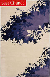 Rugstudio Sample Sale 66395R Beige / Purple Area Rug