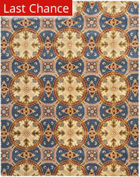 Rugstudio Sample Sale 80912R Blue / Gold Area Rug