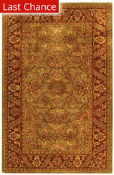 Rugstudio Sample Sale 49827R Green / Rust Area Rug