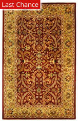 Rugstudio Sample Sale 46763R Red / Gold Area Rug