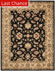 Rugstudio Sample Sale 46773R Black / Gold Area Rug
