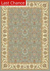 Rugstudio Sample Sale 50072R Light Blue / Ivory Area Rug