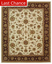 Rugstudio Sample Sale 50162R Ivory / Red Area Rug