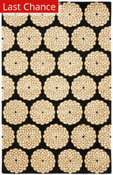 Rugstudio Sample Sale 47069R Black / White Area Rug