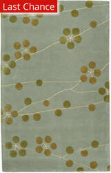 Rugstudio Sample Sale 47128R Light Blue / Gold Area Rug