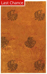 Rugstudio Sample Sale 47179R Gold / Brown Area Rug