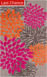 Rugstudio Sample Sale 105943R Gray / Hot Pink Area Rug
