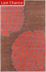 Rugstudio Sample Sale 28019R Chocolate Area Rug