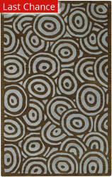 Rugstudio Sample Sale 17176R Brown Spa Blue Area Rug