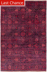 Rugstudio Sample Sale 151504R Burgundy / Purple Area Rug
