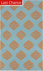 Rugstudio Sample Sale 88341R Dark Robin's Egg Blue Area Rug