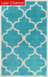 Rugstudio Sample Sale 111563R Teal Area Rug