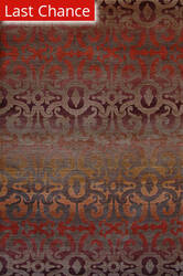 Rugstudio Sample Sale 105584R Walnut - Red Area Rug