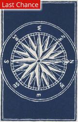 Trans-Ocean Frontporch Compass Navy 1447/33 Area Rug
