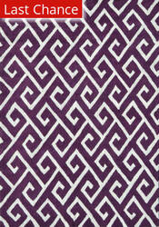 Rugstudio Sample Sale 101437R Aubergine/White Area Rug