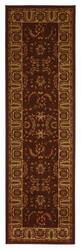 828 Crown Point CP01 Brown with Beige Border Area Rug