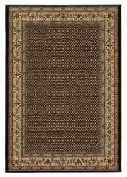 828 Greenville Collection 1-1012-90 Black with Camel Border Area Rug