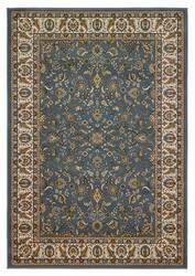 828 Greenville Collection 1-1023-42 Light Blue with Ivory Border Area Rug