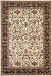 828 Greenville Collection 1-1042-70 Ivory with Burgandy Border Area Rug