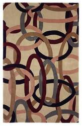 828 Mirage Collection 3-0555-99 Ivory/Multi Area Rug