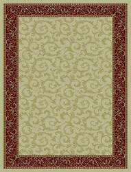 828 Rhine Collection RH08 IV Ivory with Red Border Area Rug