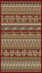 828 Rhine Collection RH17 RD Red/Multi Area Rug