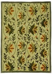 828 Tibetan Collection TIB19 Green/Cream Area Rug