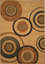 828 Laguna Collection LG29 Ivory/Brown Area Rug