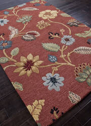 Addison And Banks Hand Tufted Abr0058 Red Area Rug