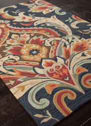 Addison And Banks Hand Hooked Abr0147 Navy Area Rug