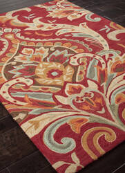 Addison And Banks Hand Tufted Abr0148 Burgundy Area Rug