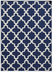Addison And Banks Flatwoven Aster Blue Area Rug