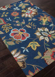 Addison And Banks Hand Tufted Abr1044 Medium Navy Area Rug