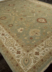 Addison And Banks Hand Knotted Abr1137 Sea Green Area Rug