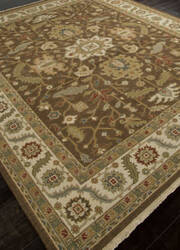 Addison And Banks Hand Knotted Abr1139 Cocoa Brown Area Rug