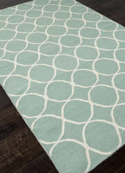 Addison And Banks Flat Weave Abr0450 Light Turquoise / White Area Rug