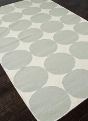 Addison And Banks Flat Weave Abr0458 White / Pastel Blue Outlet Area Rug