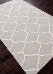 Addison And Banks Flat Weave Abr0715 Sky Gray and Lily White Area Rug