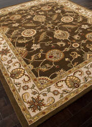 Rugstudio Sample Sale 82224R Cocoa Brown/Dark Ivory Area Rug