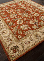 Addison And Banks Hand Tufted Abr0523 Red Oxide/Sand Area Rug
