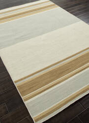 Addison And Banks Flat Weave Abr0610 Fog - Light Gold Area Rug